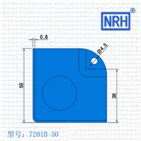 NRH 7201B-50 steel corner Protector amplifier corner high quality Angle bead performance equipment case cornerite chrome finish