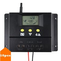 10PCS/LOT Wholesale 60A Solar Controller 12V 24V Solar Panel Battery Charge Controller Home System Short Circuit Protection