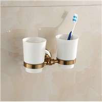space aluminum antique porcelain Double tumbler cup holder toothbrush holder bathroom accessory bathroom furniture toilet