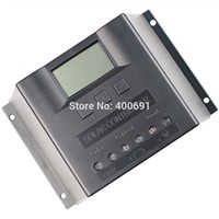 60A Solar System Controller, 12V/24V Automatic Identification, PWM Solar Controller 60A, Solar Regulator 60A with LED Display