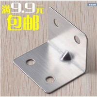 Stainless steel Angle code right Angle iron furniture hardware fittings fixed Angle iron fittings fasteners, tables and chairs
