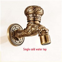 Dragon animal Garden Antique Plate Bathroom Washing Machine Tap Laundry Mop Pool Cold Water Bibcock bathroom faucet Bath tap