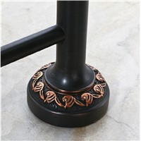 Wholesale And Retail Wall Mounted Oil Rubbed Bronze Towel Rack Holder Clothes Shelf W/ Towel Bar Hooks Hangers Brass
