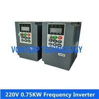 220V  750W 0.75KW   single phase input 220v 3 phase outfrequency converter/ frequency inverter /ac drives/variable speed drive