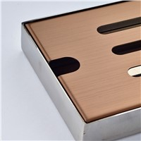 Wholesale And Retail Bathroom Shower Room Swimming Pool  Floor Drain Square Ground Leakage Rose Golden Finish Stainless