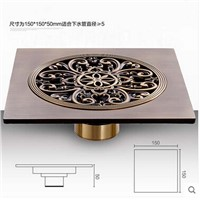 Artistic Antique Brass Floor Waste Drain 150mm