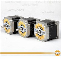 ACT Motor 3PCS Nema23 Stepper Motor 23HS6620B Dual Shaft 185oz-in 56mm 2A 6-lead 2Phase CE ROHS ISO  CNC Router Metal Engraving
