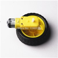 10pcs/lot Smart Car Robot Plastic DC 3V-6V Drive Gear Motor +tyre+for Tire Wheel