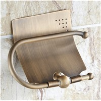 Beelee Antique Brass Wall-mounted Toilet Roll Holder, Bathroom Accessories