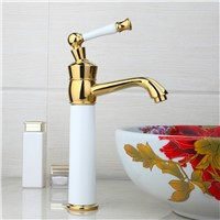 Shivers Deck Mounted Bathroom New 97193 Waterfall Basin Sink Golden Single Handle Vessel Vanity Torneira Mixer Tap Faucet