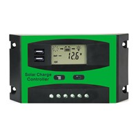 30A 12V 24V LD2430U PWM Solar cell panel battery Charge Controller Regulators LCD Display