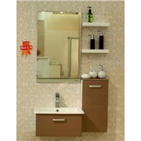 Coffee Color Flashing Lacquer Modern PVC Bathroom Cabinets OP-P1124A