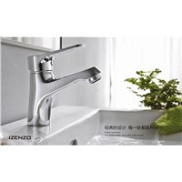 Polished chrome classic basin faucet with single lever bathroom basin sink mixer tap ,sanitary ware , bathroom basin faucets