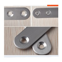 76MM Stainless steel furniture connector fastener Straight bar Corner Linear bars Assembling Furniture connection buckle 20PCS