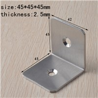 45MM Thick stainless steel angle code Square right angle connector Furniture Installation Accessories Corner Angle Stand  10pcs