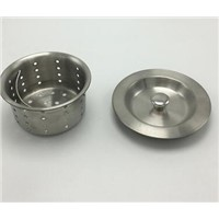 Kitchen dish washing Stainless steel sink drain basket with cap