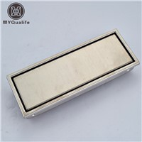 Luxury Nickel Brushed Bathroom Floor Drain Stainless Steel Shower Grate Waste Drain