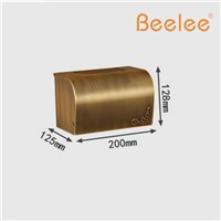 Beelee BL6209A Antique Brass Waterproof Toilet Paper Box Enclosed Sanitary Roll Paper Tissue Holder