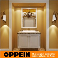 Traditional White Lacquer Bathroom Funiture Bathroom Vanity OP15-031C