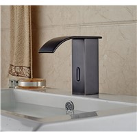 Oil Rubbed Broze Waterfall Spout Basin Faucet Bathroom Sink Tap Automatic Faucet Touchless Tap