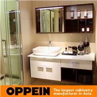 Modern Functional White HPL Finished Waterproof Bathroom Cabinet OP15-121A