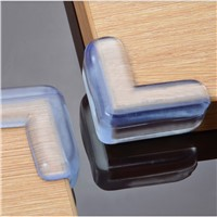 4PCS PVC Soft Transparent Baby Children Kids Safe Bed Table Desk Corner Protector Home Furniture Accessories