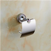 Bathroom accessories chrome brass paper holder toilet roll holder wall paper hanger bathroom paper roll holder accessories