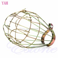 Industrial Brass Bulb Guard Clamp On Lamp Squirrel Cage Vintage Lights Socket #S018Y# High Quality