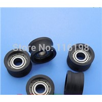 BU0515 Nylon wheel hanging / ball bearing with pulley wheel for doors and windows 5x15.4x8.4MM
