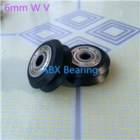 BW25 6mm W V groove bearing Openbuilds for 3D printer nylon wheel ball bearing with pulley 20 type track roller