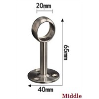 4PCS/LOT 19MM  SOLID TOWEL CLOSET ROD RAIL END/MIDDLE SUPPORT BRACKET HOLDER  STAINLESS STEEL