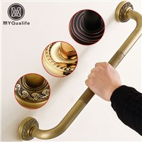 Bathroom Helping Handle Bars Wall Mounted Brass Grab Bars Cuba and Safety Grip Handle