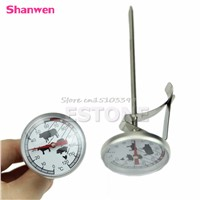 Stainless Steel Instant Read Probe Thermometer BBQ Food Cooking Meat Gauge #G205M# Best Quality