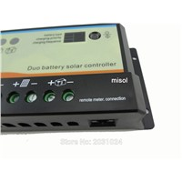 1pcs 10A Duo-battery solar charge controller 12/24v, solar regulator, for two battery