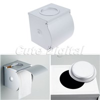 Bathroom Paper Box Wall Mounted Space Aluminum Waterproof Toilet Roll Tissue Paper Holder and Dispenser Hanger with Ashtray