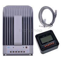 MPPT 30A Solar Charge Controller + Remote Meter MT50 EPSOLAR 30A Max 150V PV Battery Panel Regulator 12V/24V DC Auto Charger