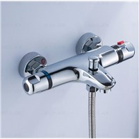 High quality brass chrome wall mounted bathroom thermostatic faucet,thermostatic bathroom shower faucet,bathtub faucet