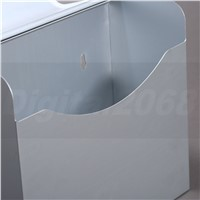 Space Aluminum Postbox Type Toilet Paper Holder Case With Cover Roll Dispenser Bathroom Waterproof Tissue Box Roll 12*15*5CM