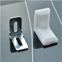 Plastic Cupboard Corner / Iron Right Angle / Cabinet Hardware Fitting Hanging Code / white Corner 20PCS