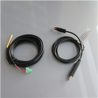 Remote temperature sensor RTS300R47K3.81A + Communication cable CC-USB-RS485-150U USB to PC RS485 for EP Solar regulator