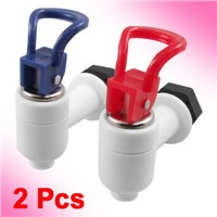2 Pcs/lot 16.5mm Male Thread Diameter Red Blue White Plastic Spare Part Water Dispenser Ta