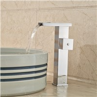 High Quality Cheap Bathroom Lavatory Basin Sink Faucet LED Color Changing with Hot Cold Water Polished