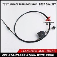 Excavator manual hand throttle control cable 4 meter