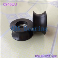 U groove ball bearing 0840UU BU0840 608ZZ 608Z 608 window and door bearing 8x40x20.7mm Guide Pulley Sealed Rail