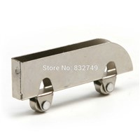 Atoplee 10 PCS Glass Sliding Door Roller Clamp Stainless Steel Wheel Pulley Rollers For Bathroom Door Shop Wine Cabinet
