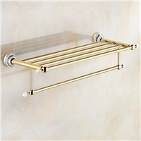 Crystal Gold Plating Towel Rack,towel Shelf with Bar,towel Holder Bathroom accessories
