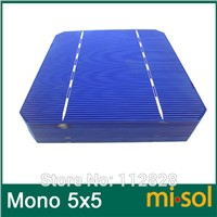 50pcs/lot of Mono Solar Cell 5x5 2.8w, GRADE A, monocrystalline cell, DIY solar