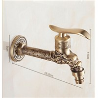 Vintage Artistic Laundry Bathroom Washing Machine Faucet Antique Outdoor Garden tap Hose only Cold mixer