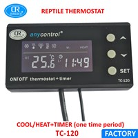 RINGDER TC-120 0-50C ON OFF Digital Reptile Thermostat with Timer AU EU UK US Plug Socket Regulator Pet Temperature Controller