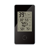 Mini Wireless Weather Station Indoor Digital Thermometer Hygrometer Monitor Black Max/ Min Data Records of Temperature/humidity